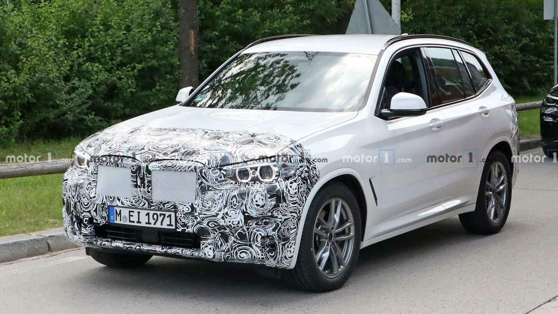 Огромных «ноздрей» не будет: обновленный BMW X3поймали фотошпионы— фото 1155245