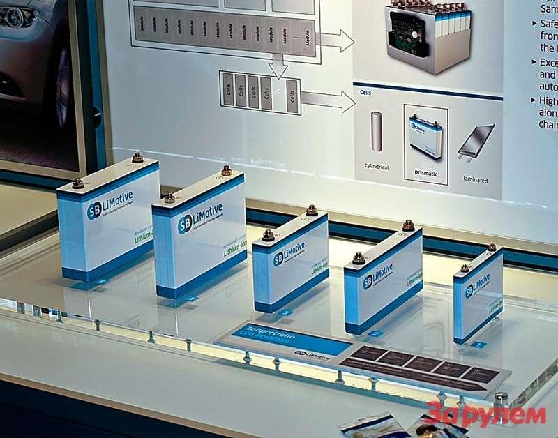 Именно изтаких литиево‑ионных аккумуляторов набирают батареи дляэлектромобилей.