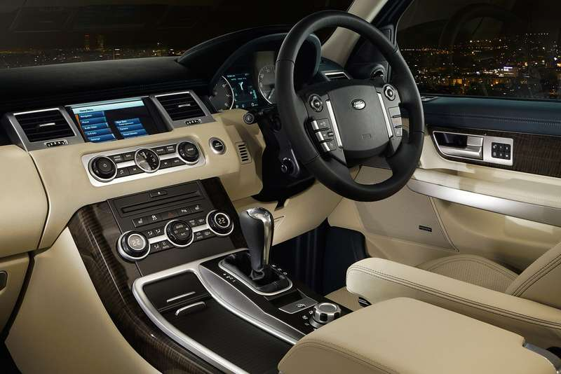 Current Land Rover Range Rover Sport inside