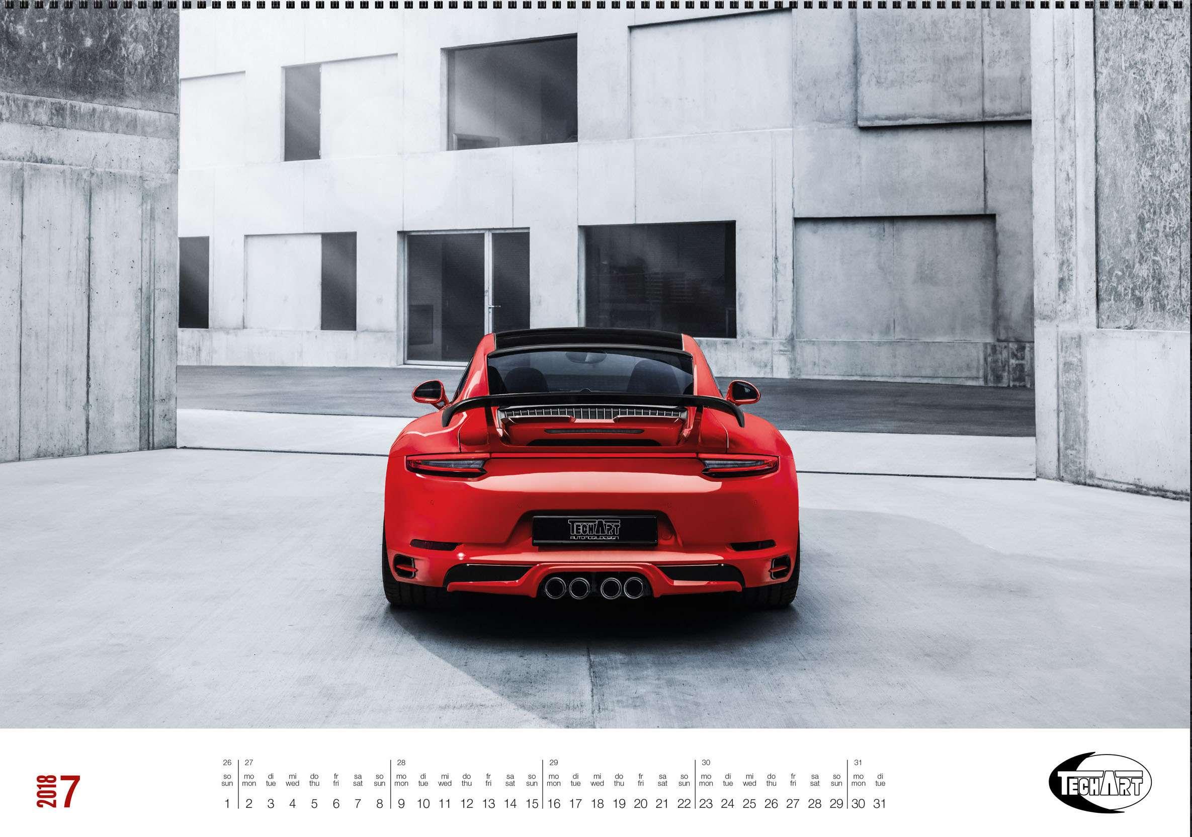 Только красивые машины: календарь Techart— фото 826393