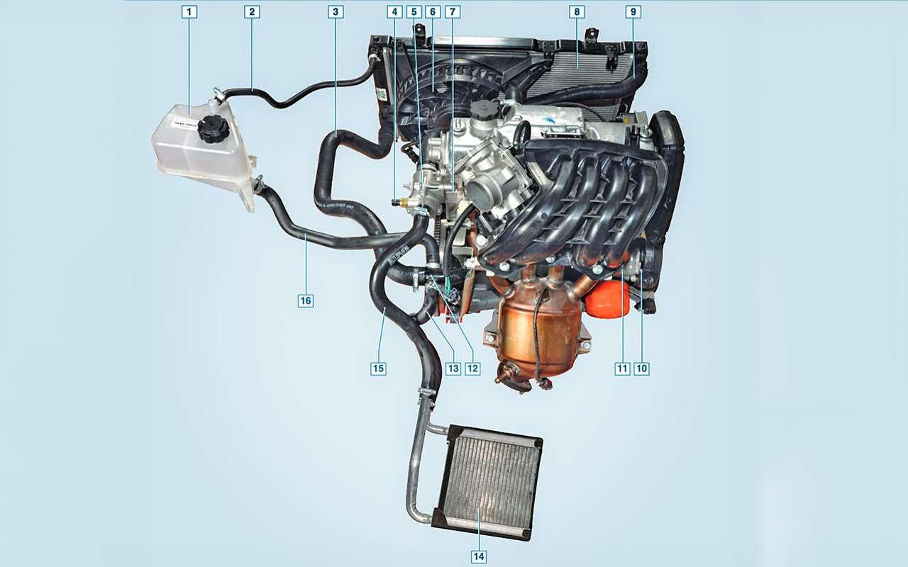 Система охлаждения ДВС: как устроена инадо ли промывать еезимой?— фото 824407