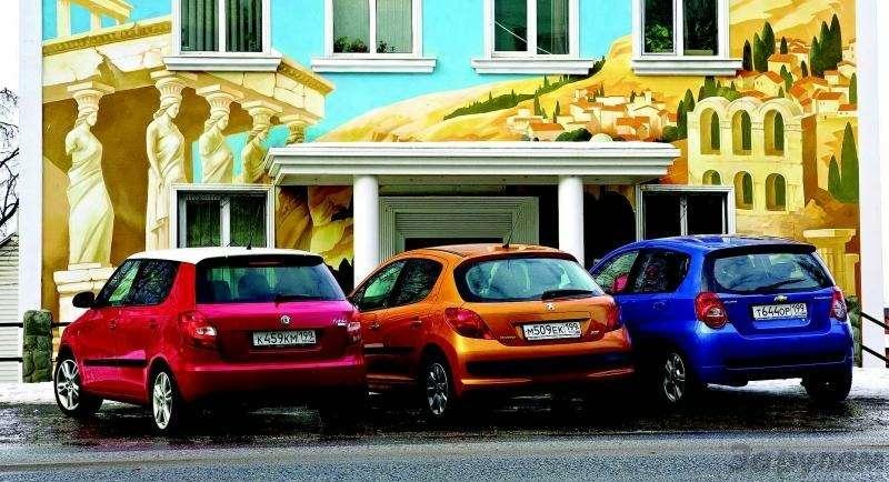 Peugeot 207, Chevrolet Aveo, Skoda Fabia: Кавалеры приглашают дам— фото 93081