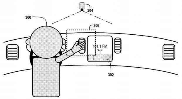 no copyright google car gesture patent