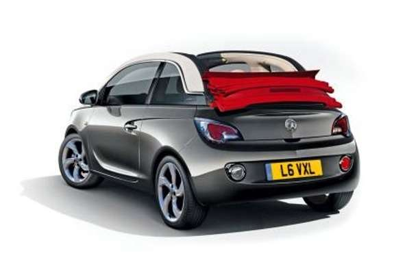 Vauxhall Adam Cabrio rendering by Auto Express side-rear view_no_copyright