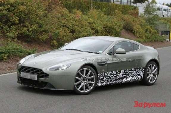 Aston Martin Vantage mule side-front view