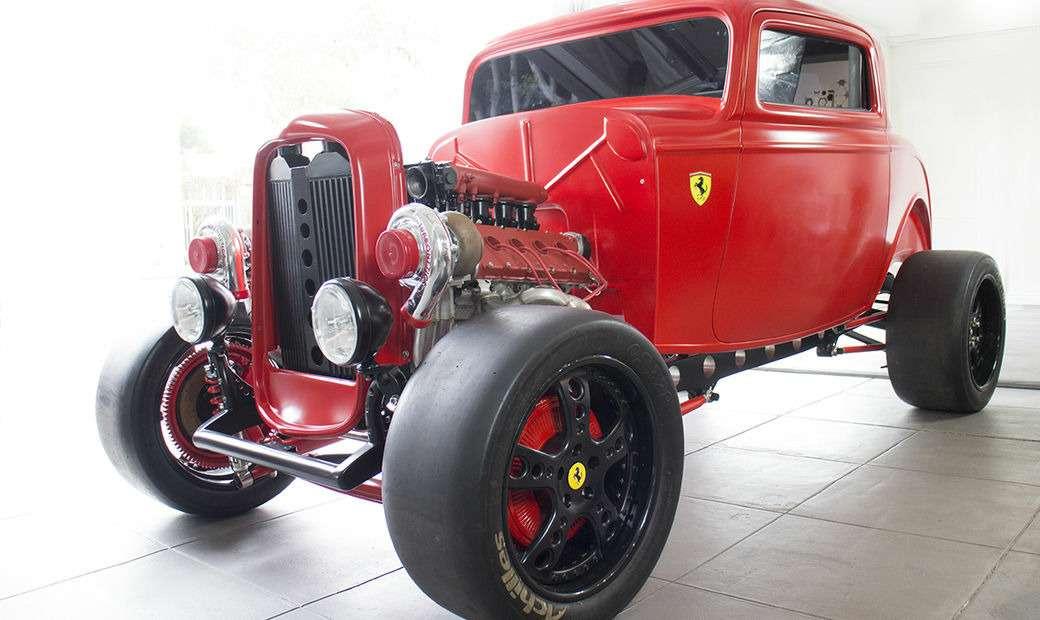 psqXY9vHSzBPZT9Aia1FmA - Энцо перевернулсябы вгробу: Ford 1932 года сдвигателем Ferrari