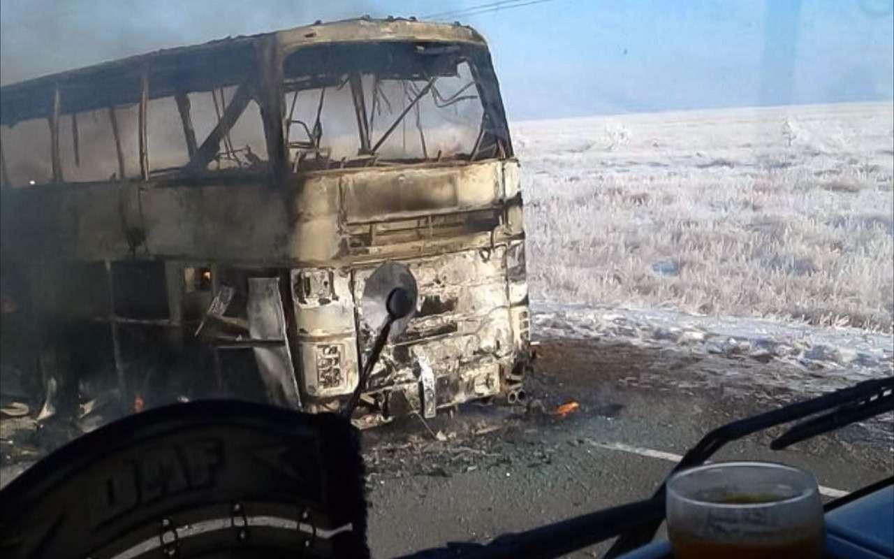 Страшная авария сИкарусом вКазахстане: 52человека погибли