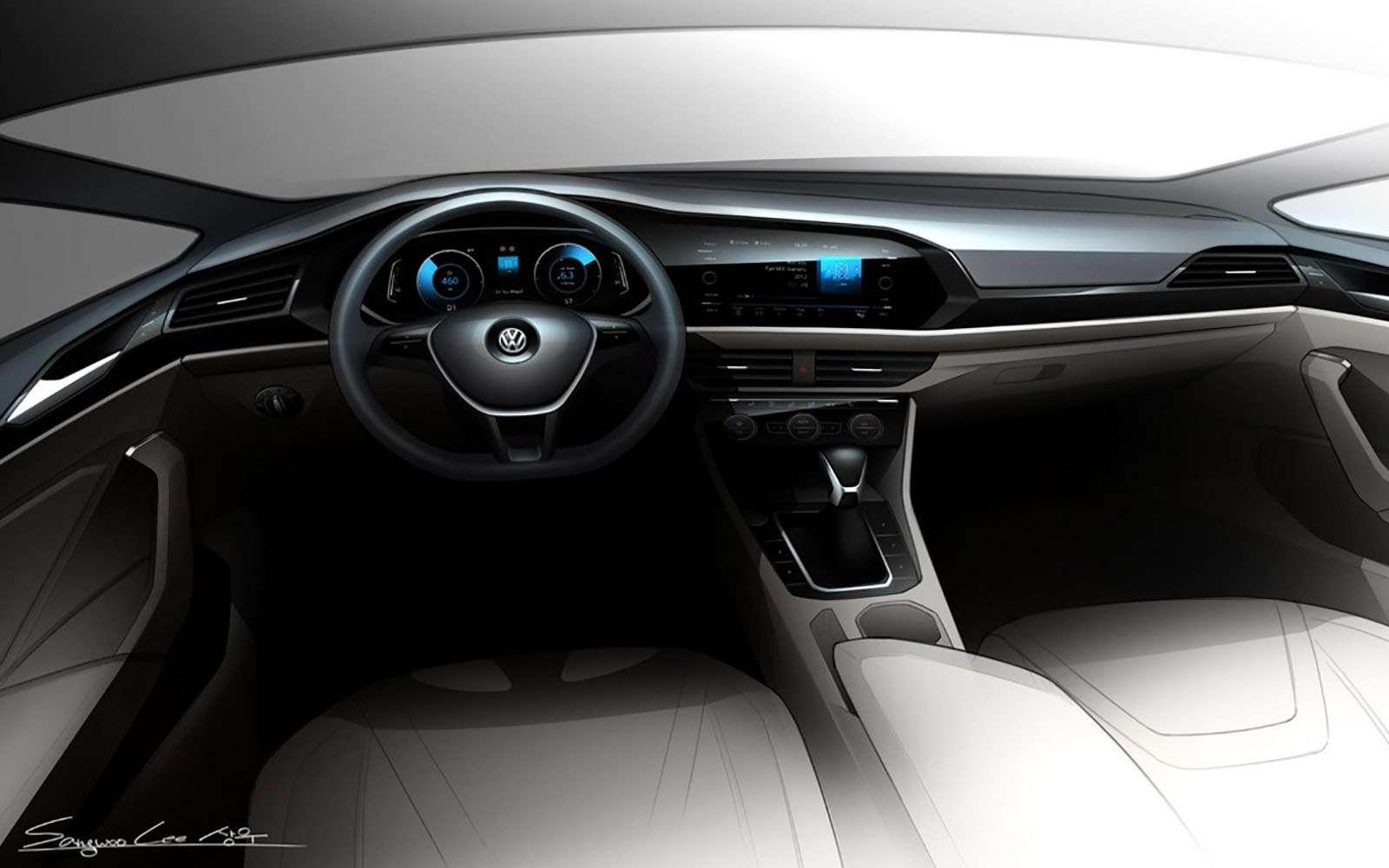 Новый Volkswagen Jetta: рассекречены дизайн иинтерьер— фото 825930