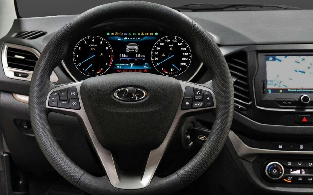 Представлена цифровая панель приборов Lada Vesta— фото 1123047