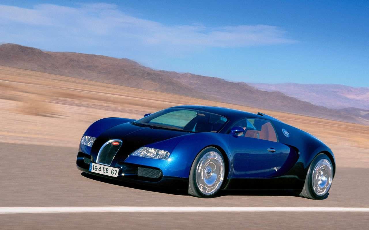 Всеначалось срисунка наконверте— краткая история Bugatti Veyron— фото 1117494