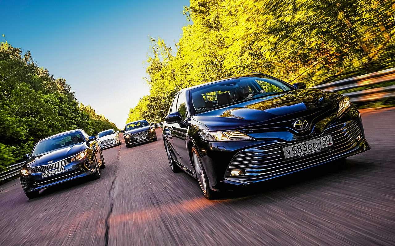 Toyota Camry против конкурентов— сравнительный тест— фото 882423