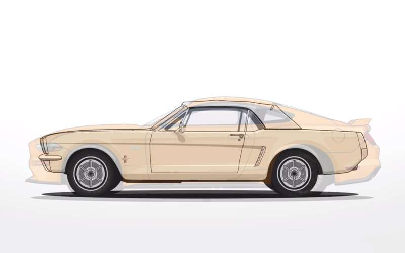 Ford Mustang— вся история за2минуты видео