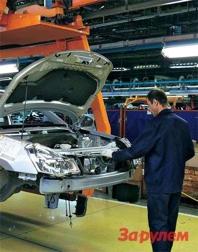 Сегодняшняя реальность Волжского автозавода: на конвейере – «Ниссан-Алмера».