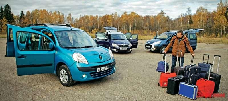 Renault Kangoo, Škoda Roomster, Peugeot Partner Tepee