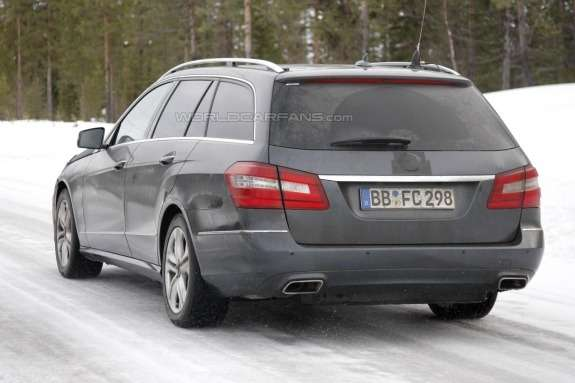 Facelifted Mercedes-Benz E-class T-Model side-rear view