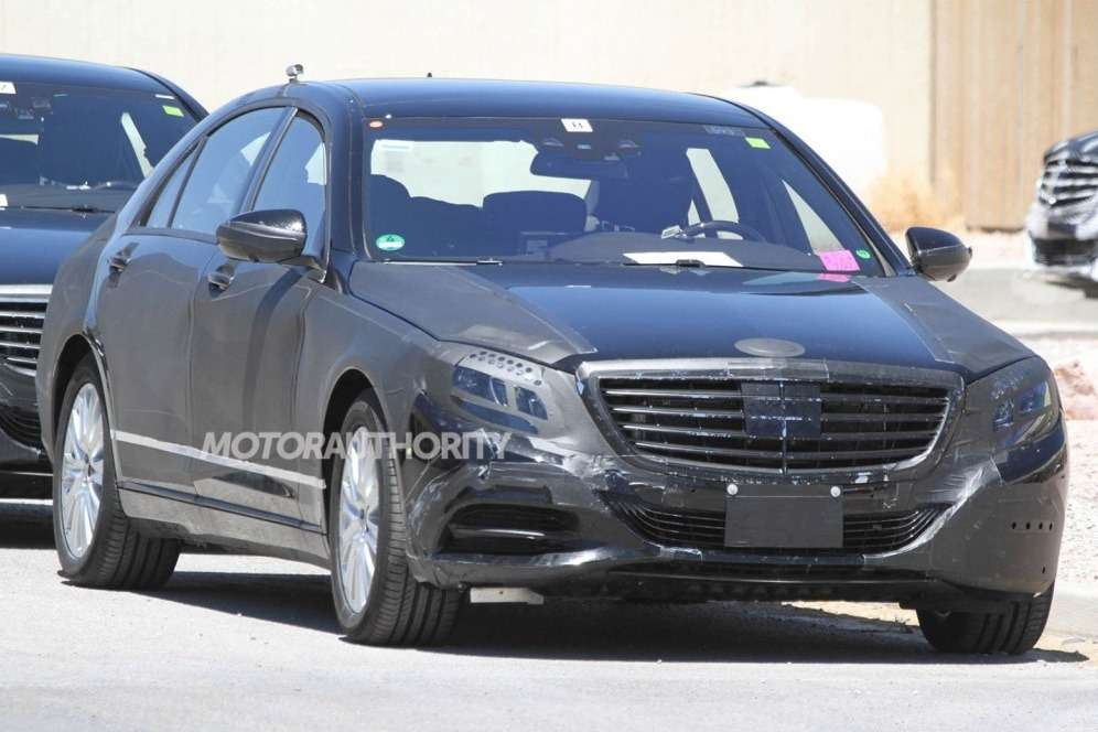 NewMercedes-Benz S-class test prototype side-front view