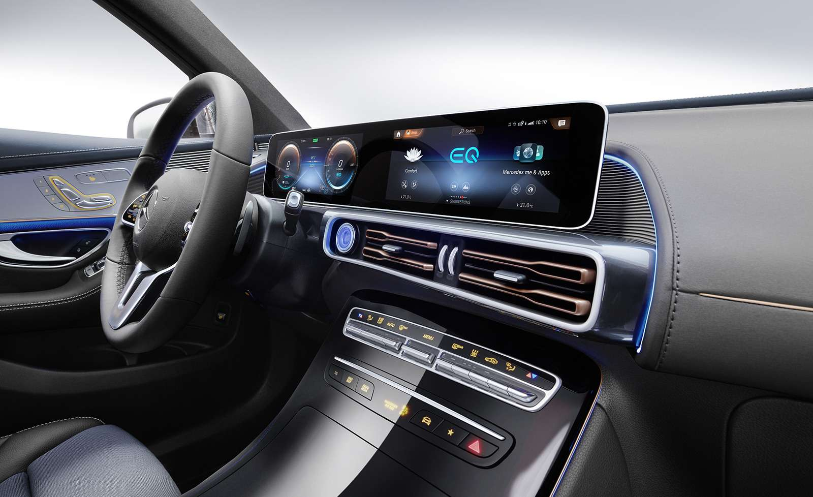 Электрический Mercedes-Benz EQC: два мотора и450 километров назарядке— фото 902231