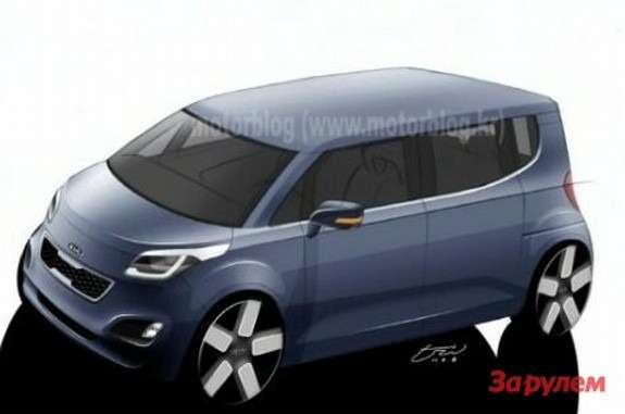 Kia TAM rendering side-front view