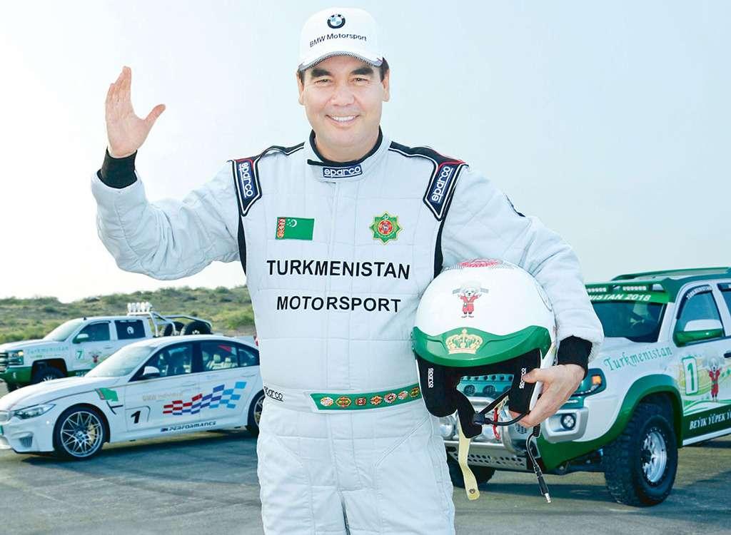 Президент Туркмении победил вралли настоящего гонщика