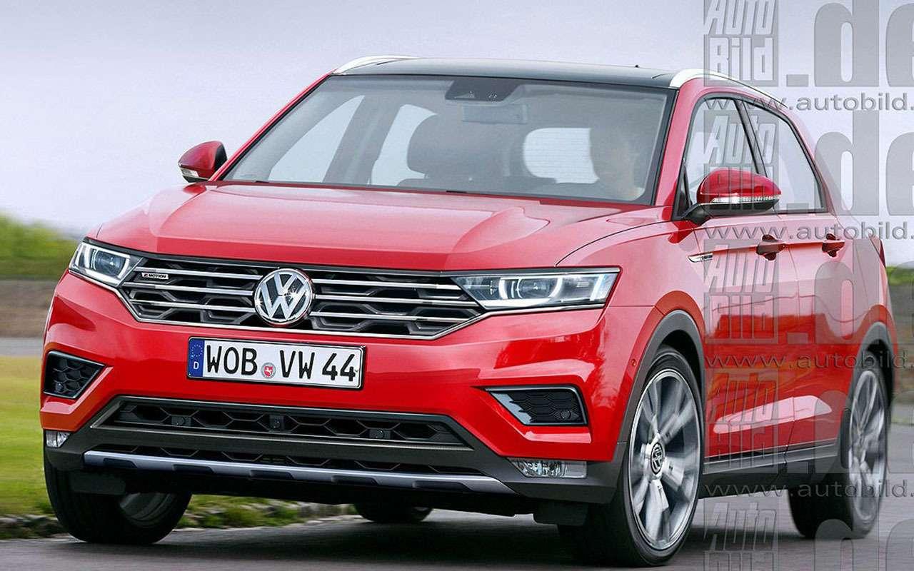Рендеры кроссовера набазе Volkswagen Golf