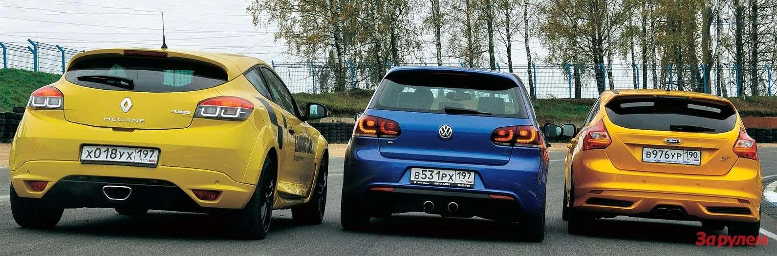 Ford Focus ST, Renault Megane RS, Volkswagen Golf R