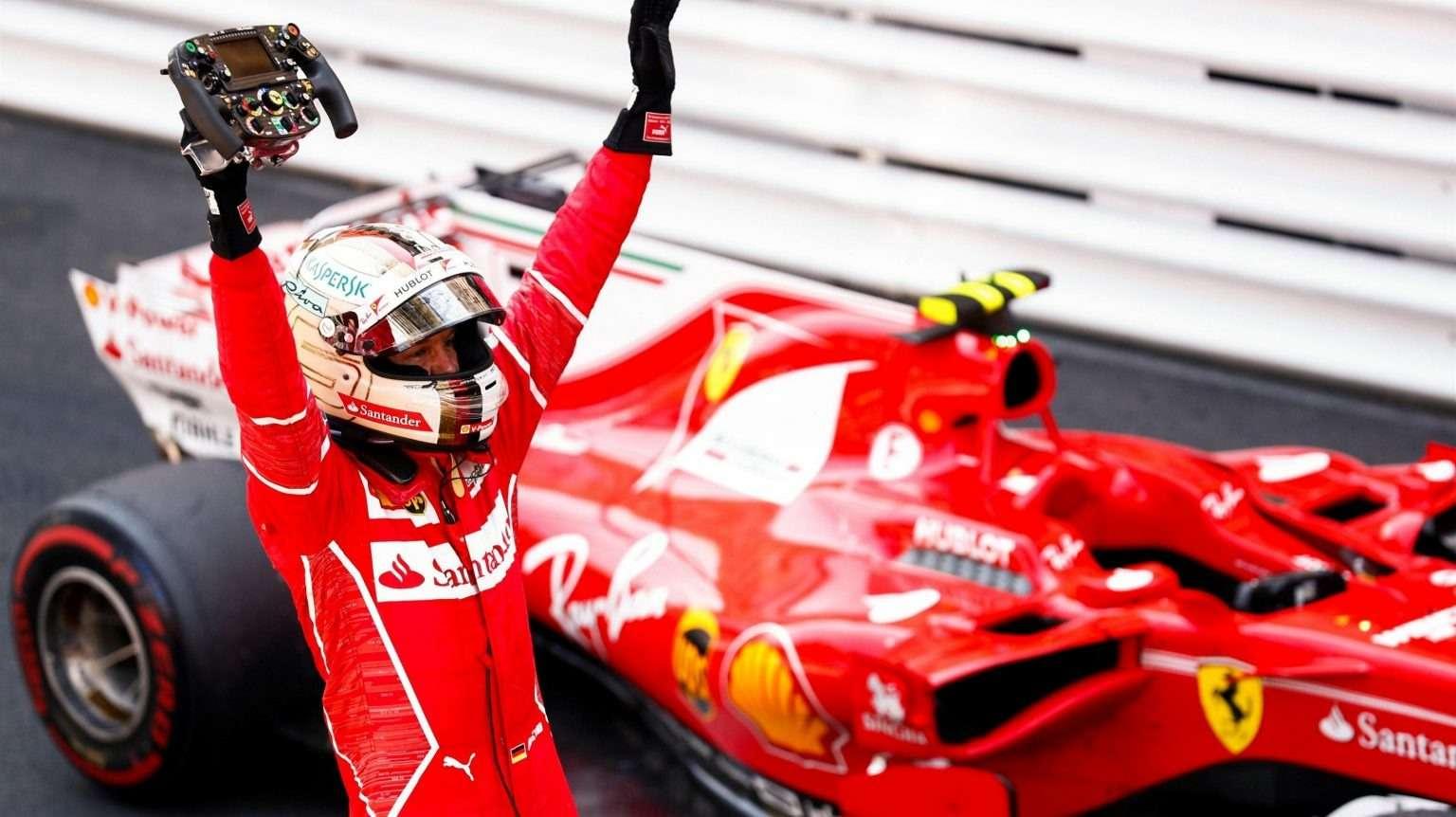 Формула 1, Гран-При Монако, Ferrari, Кими Райкконен, Себастьян Феттель, Даниэль Риккьярдо, Даниил Квят, Льюис Хэмилтон