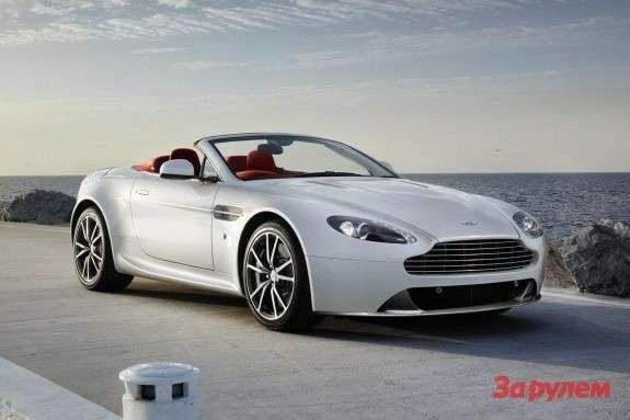 Aston Martin V8Vantage Roadster side-front view 2
