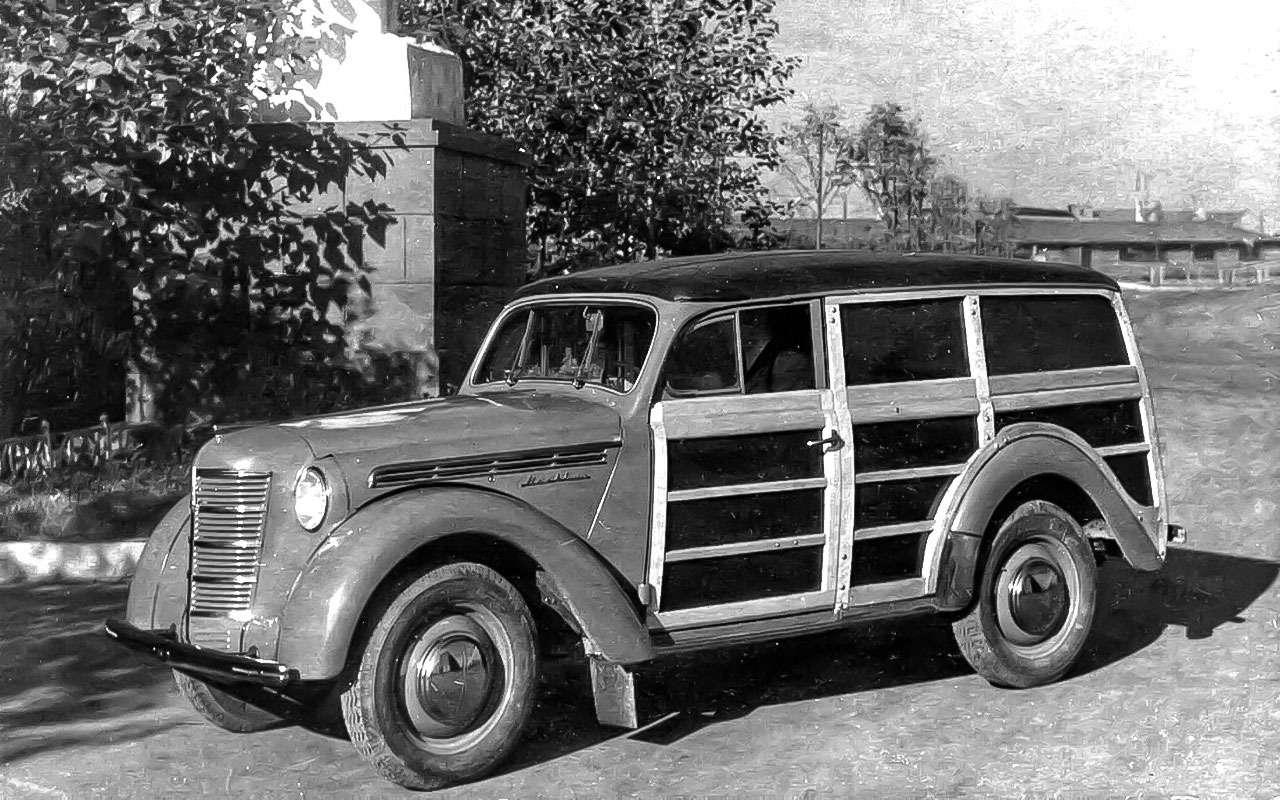 Москвич-400-422с деревометаллическим фургоном