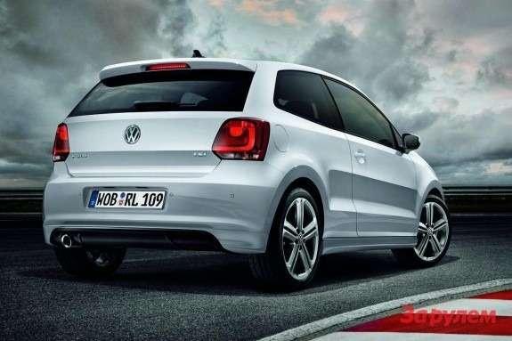 Volkswagen Polo R-Line side-rear view