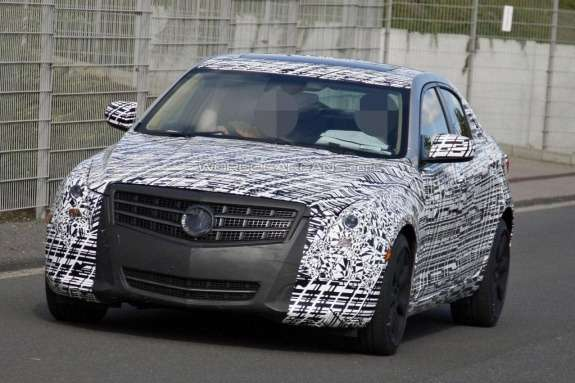 Cadillac ATS test prototype side-front view