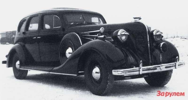 ЗиС-101А вспецисполнении длякремлевского гаража. После жестких выводов государственной комиссии воглаве синженером Чудаковым автомобиль модернизировали. Вчастности, заменили металлическим скрипучий деревянный каркас кузова. Модификация получила обозначение 101А ивыпускалась с1940 года