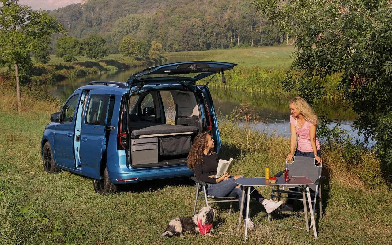 VWпоказал новый кемпер Caddy California— фото 1165243