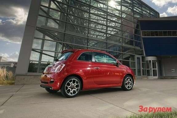 FIAT 500 side-rear view