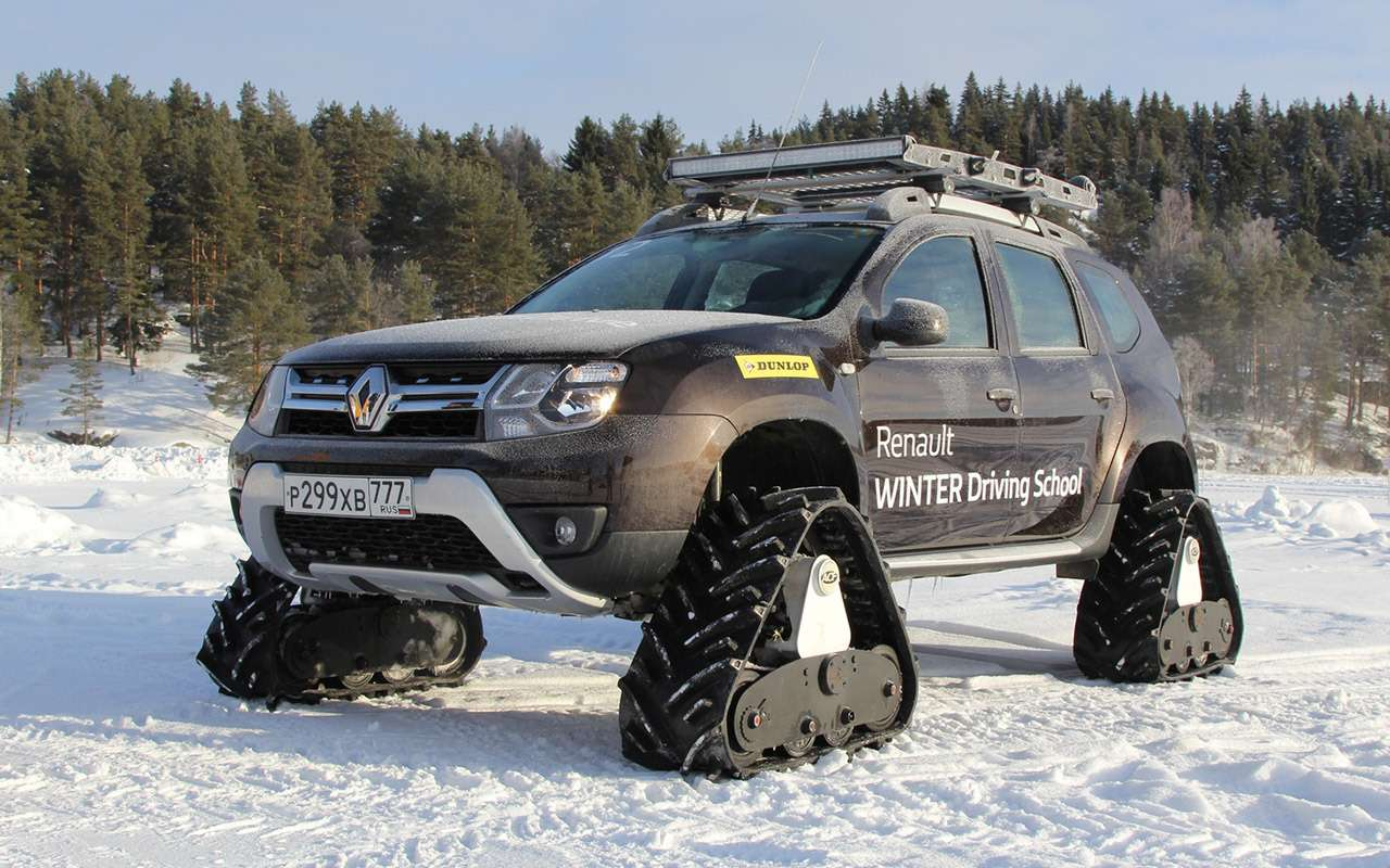 Карельский дрифт: кроссоверы Renault нальду Ладожского озера— фото 856383