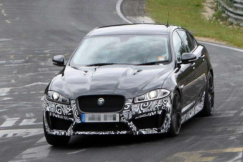 Jaguar XFR-S test prototype side-front view_no_copyright