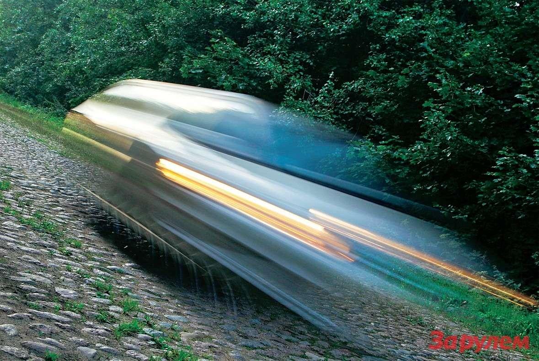 Булыжное кольцо протяженностью 8км позволяет ехать относительно быстро, нолишь наотдельных участках.