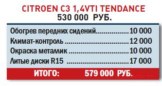 Citroen C31,4VTI Tendance? 530000 руб.