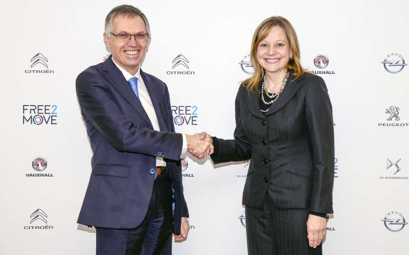 Главы PSA Group иGeneral Motors Карлос Таварес иМэри Барра