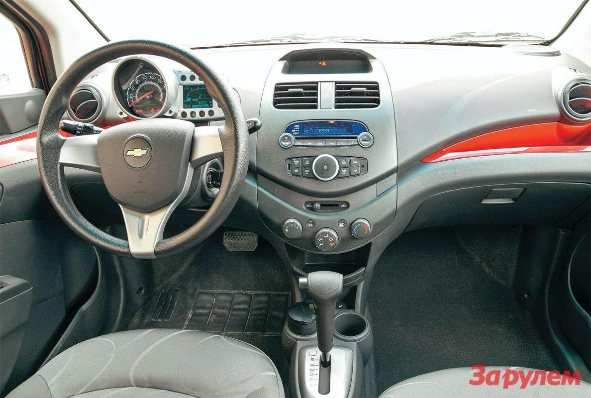 Оригинально исимпатично, разве что показания тахометра мелкие. Впрочем, так лиони важны водителю машины слитровым двигателем иавтоматом?