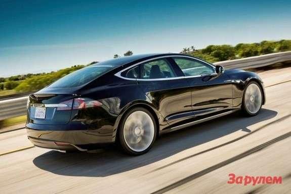 Tesla Model Sside-rear view
