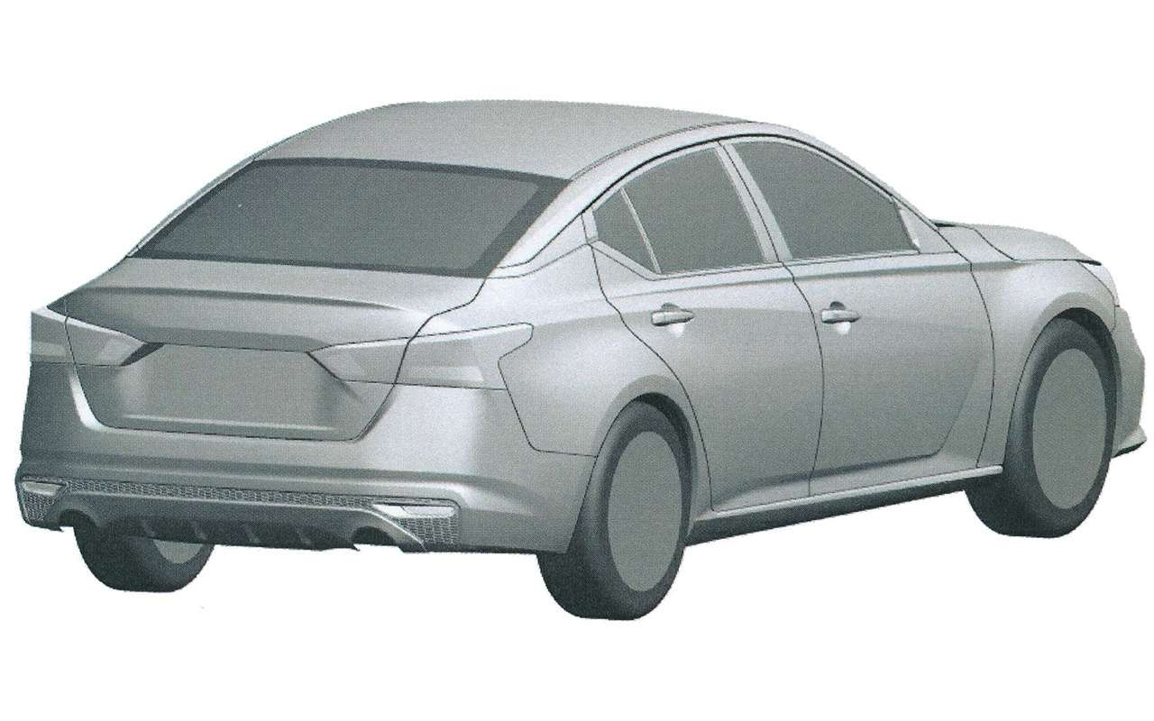 Nissan запатентовал вРоссии новую Teana