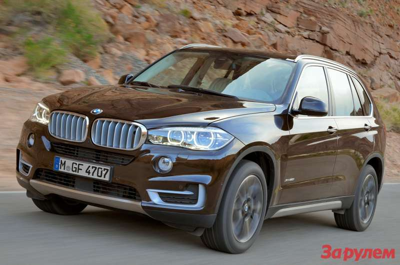 2014BMW X5brown front three quarters view