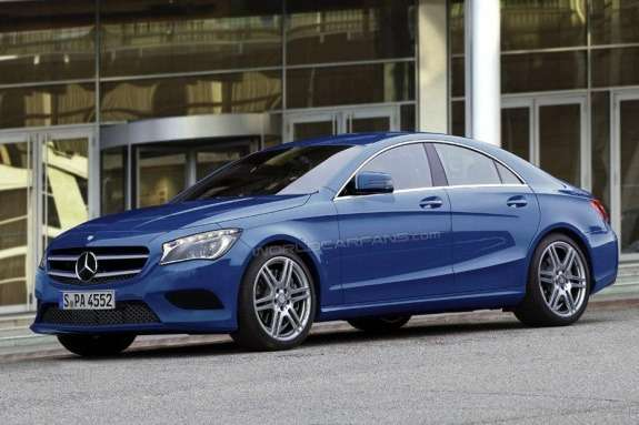 Mercedes-Benz CLA-class rendering side-front view