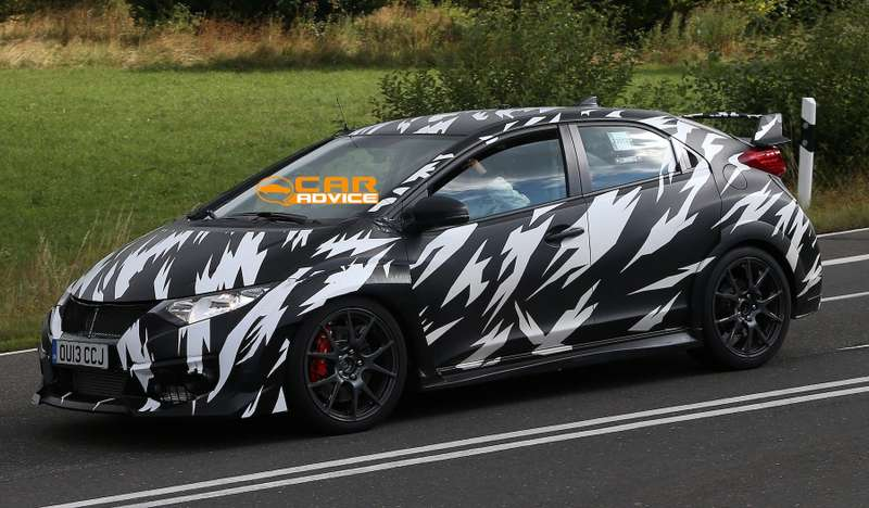 no copyright Honda Civic Type R Spied 4