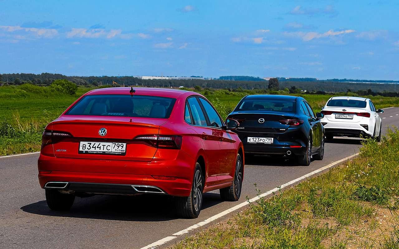 VWJetta, Kia Cerato, Mazda 3— тест-сравнение— фото 1156423