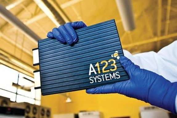 NewA123 Systems battery tech