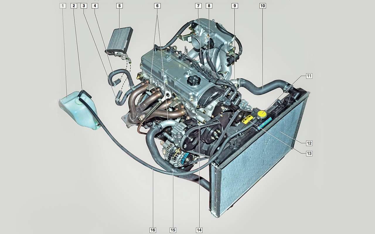 Система охлаждения ДВС: как устроена инадо ли промывать еезимой?— фото 824408