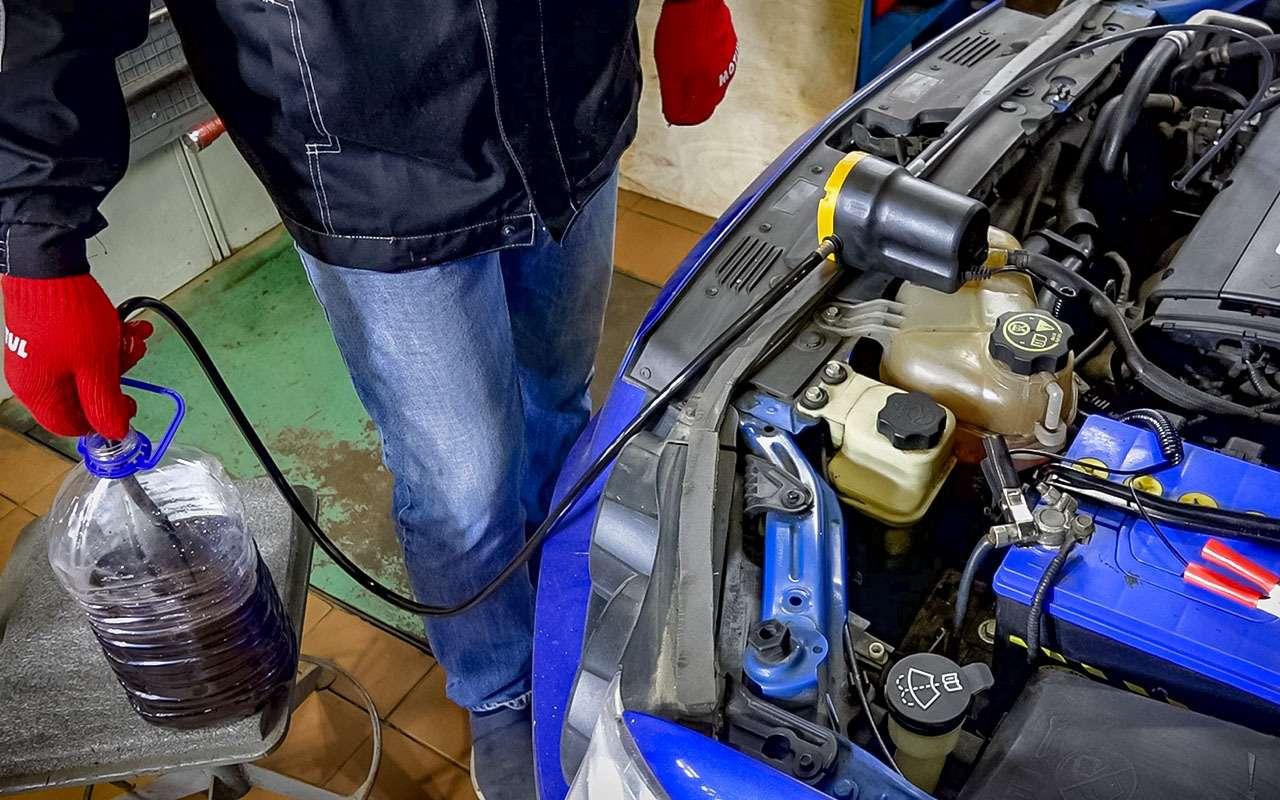 Каксменить масло вдвигателе без смотровой ямы или подъемника— фото 924591