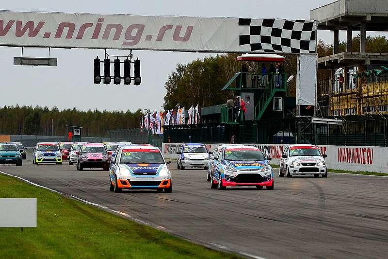 Старт второй гонки заезда Объединенный 1600no copyright