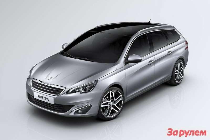 Новому универсалу Peugeot 308 SW достался 610-литровый багажник ... 38262f5f383